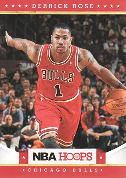 e7611928a303 2012-13 NBA Hoops Basketball  75 Derrick Rose Chicago Bulls at ...