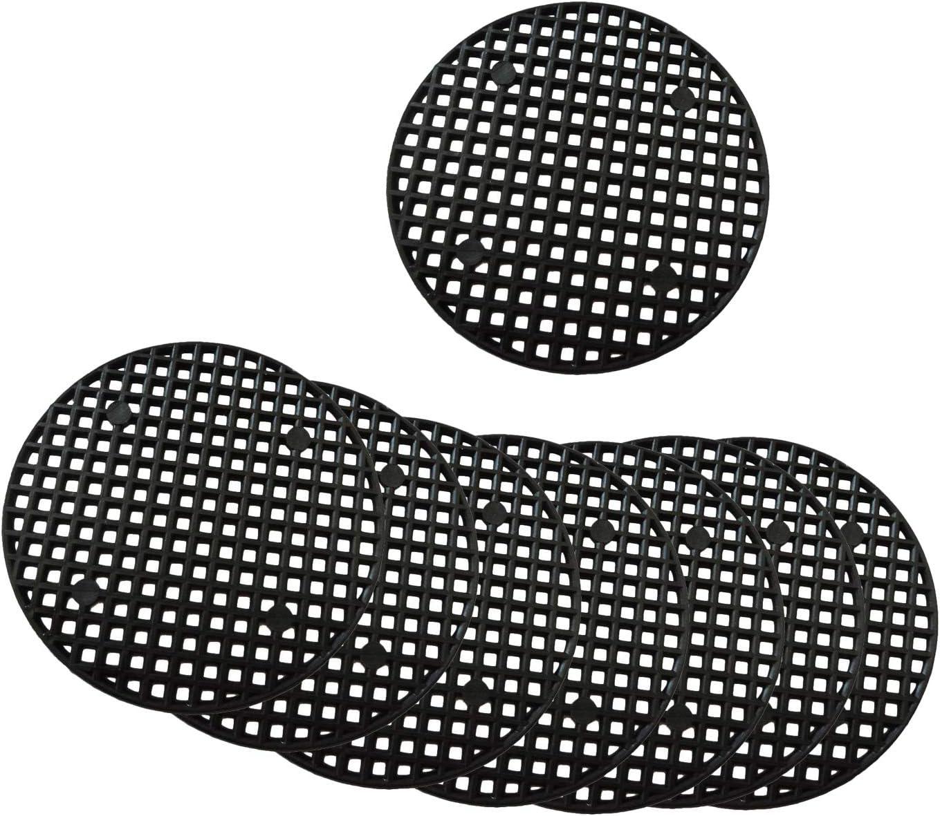 GreeStore - 50 almohadillas de malla para maceta, malla para drenaje de jardín, malla transpirable, 4,5 cm, color negro