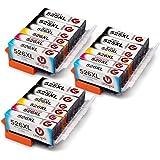 Uoopo Compatibile Sostituzione per Canon PGI-525XL CLI-526XL Cartucce d'Inchiostro multipack per Canon Pixma MG5350 MG5250 MG6250 MG5150 IP4950 IP4800 IP4850 IP4900 MX715 MX882 MX885 IX6500 IX6550 Stampante.Confezione da 18(6 PGI-525 Nero,3 CLI-526 Nero, 3 Ciano,3 Magenta , 3 Giallo)