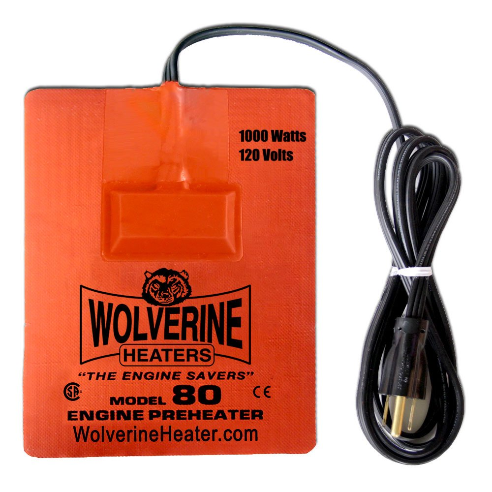 Wolverine Heaters - Model 80CSA - 1000 Watts - Engine Oil, Reservoir, Biofuel and Hydraulic Fluid Heater - 120 Volts