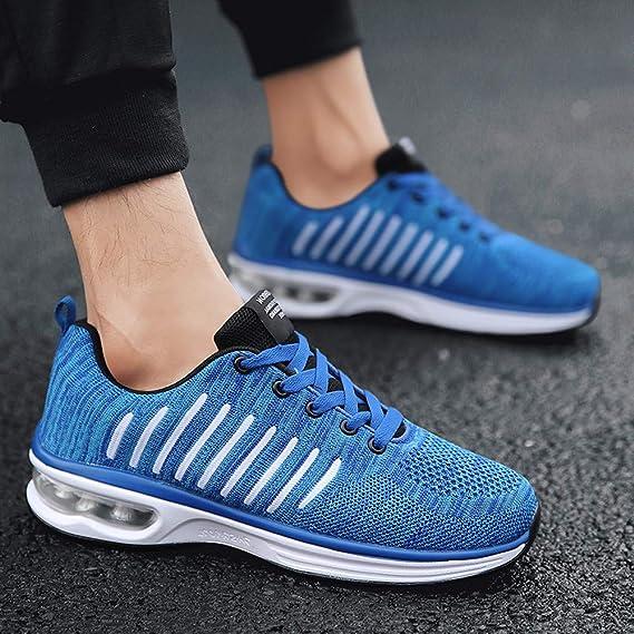 Calzado Deportivo de Exterior de Hombre ZARLLE Zapatillas de Deporte Hombres Zapatos de Gimnasia para Caminar de Peso Ligero Zapatillas de Deporte Zapatos ...