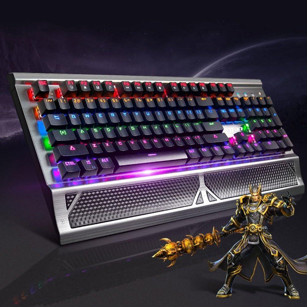 Black Zhengfangfang Metal Base USB Backlit Wired Mechanical Gaming Keyboard and Mouse and Headphone Set
