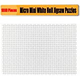 Jigsaw Puzzles 1000 Pieces for Adults CHengQiSM Micro Blank Puzzle White Hell Jigsaw Puzzles 14.96 x 10.23 Inches