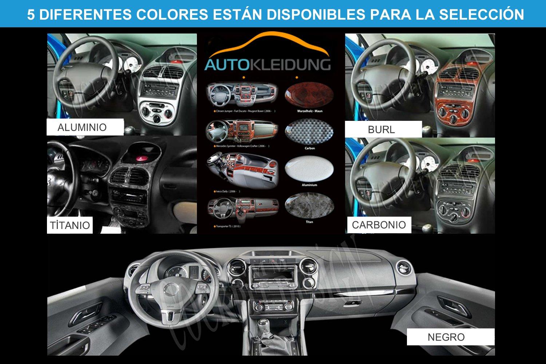 MERIC Cockpit Dekor Exclusive 3D Ausf/ührung CD-TI00420 19 Teile Farbe: Titan