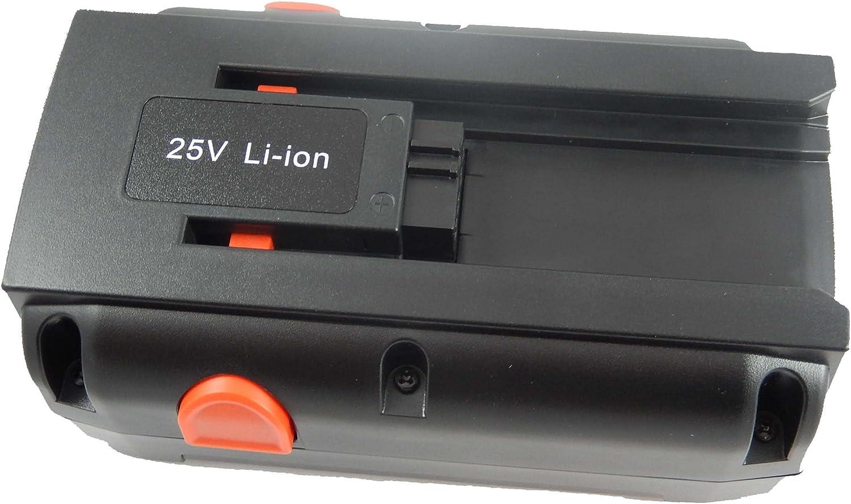 vhbw Batería Compatible con Gardena segadora helicoidal 380 C, 380 EC, 380 Li, 4024-20, 40254-20, 4028-20 (Li-Ion, 4000mAh, 25V)
