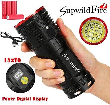 Taschenlampe WF502B  T6 LED 2000LM Taschenlampe 18650 Ladegerät LichtCNRSDENIDE