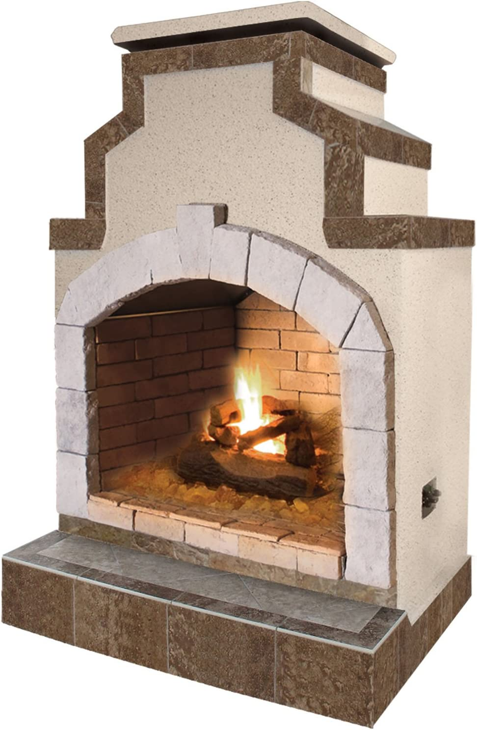 Amazon Com Cal Flame Outdoor Fireplace Frp910 2 1 Stucco And