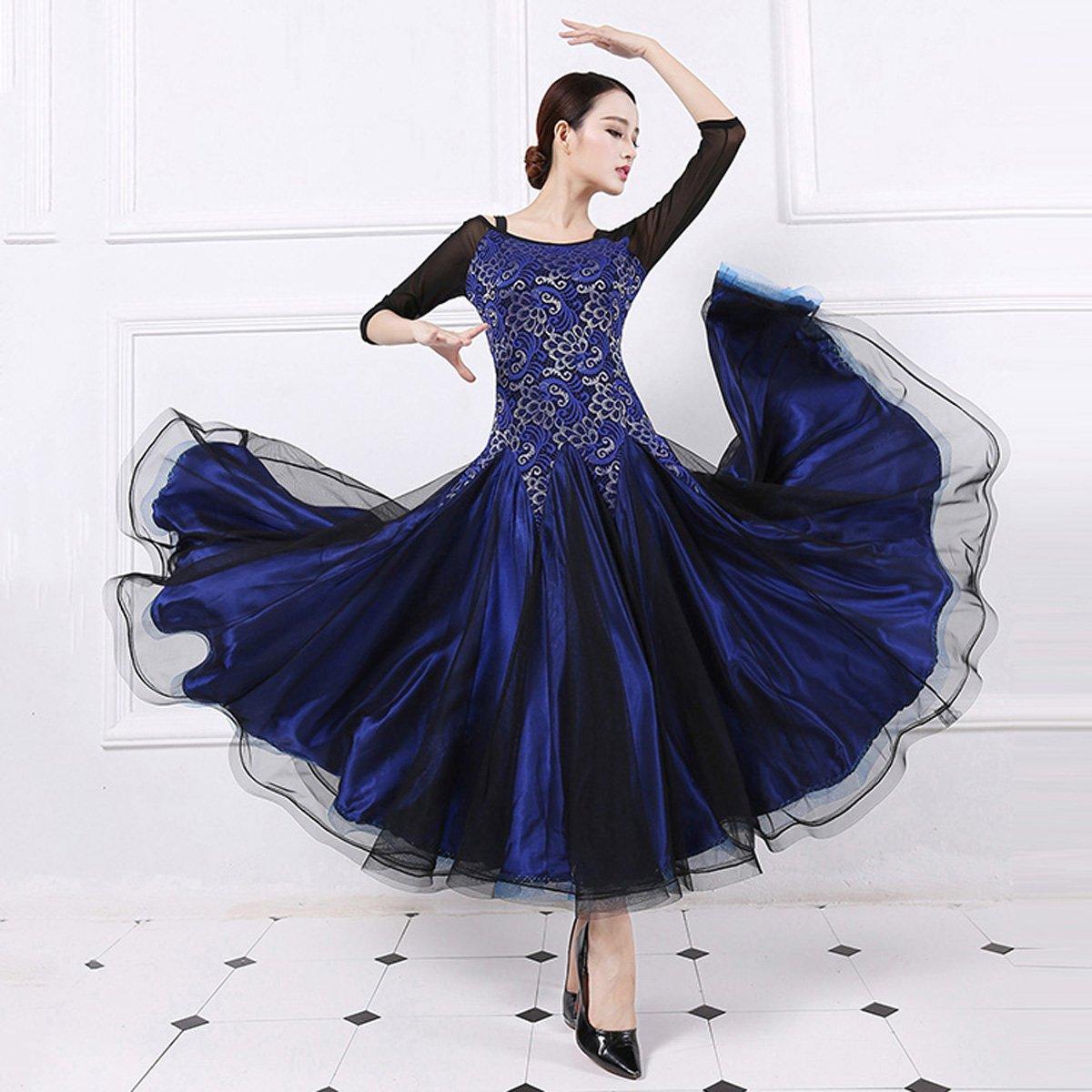 cc85d76380f6 Amazon.com  YC WELL Ballroom Dance Dress Flamenco Waltz Tango Dance Costumes  for Women  Clothing