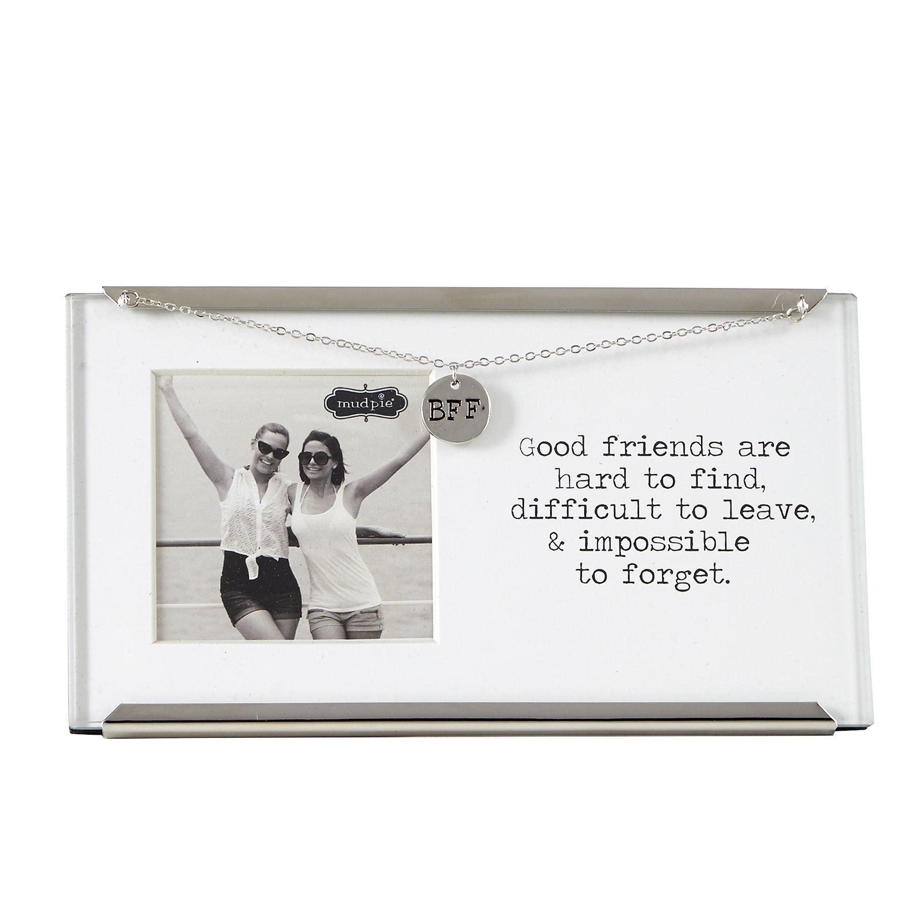 Mud Pie Glass Friend Clip Frame, 2.5 x 2.5''