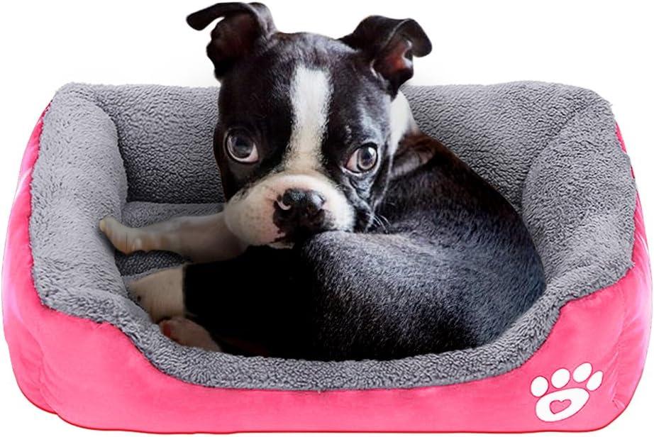 PowerKing Colchón Cuadrado para Cama de Perro pequeño, Lavable, Ideal para la habitación o la Parte Inferior Impermeable