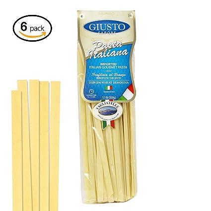 Giusto Sapore Pasta italiana – 17.64 oz – Paquete de 6 ...