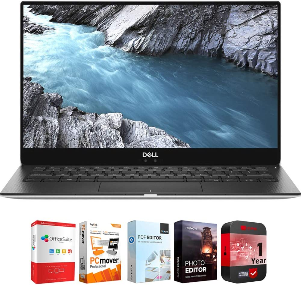 Dell XPS 13 9370 13.3 inch UHD InfinityEdge Intel Core i7 8550U Notebook Bundle with Elite Suite 18 Standard Editing Software Bundle and 1 Year Extended Protection Plan