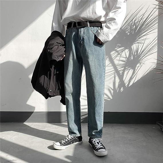 ジーンズ メンズ スキニー 2色 ジーパン ズボン 大きいサイズ ストレッチ デニムパンツ ストレート シリーズ ジーパン ロングパンツ春秋 人気パンツ 美脚 細身 「B&ji-nnzu」 (Color : ブルー, Size : 2XL)