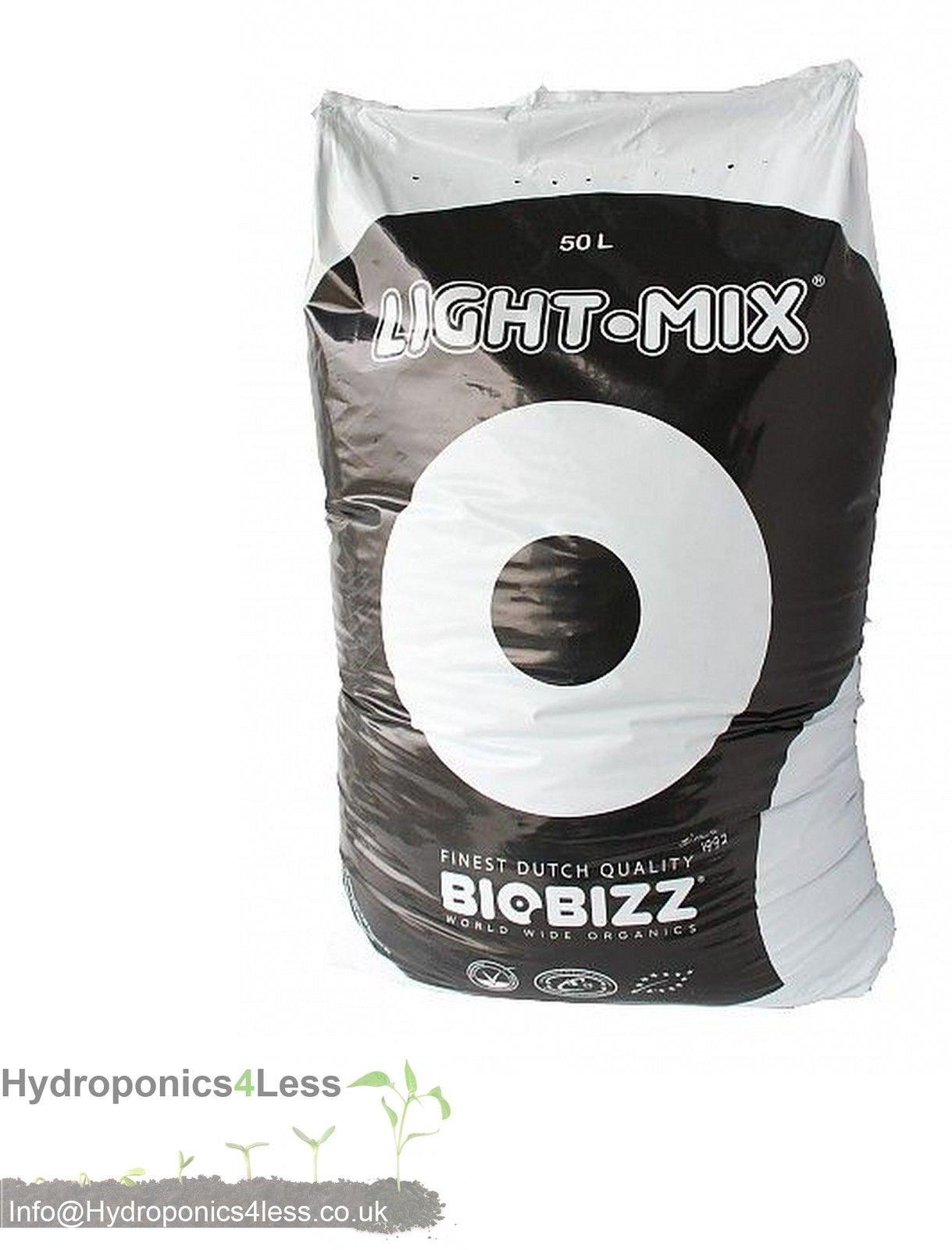 BioBizz Light Mix 50L 20L & 10L Organic Soil Potting Compost Hydroponics Growing (20 Litre)