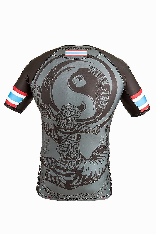 Dirty Ray Artes Marciales Muay Thai camiseta rashguard hombre RG10