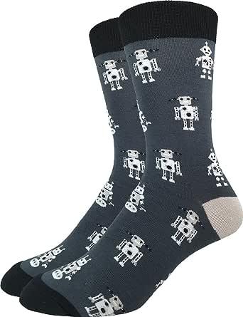 Good Luck Sock Men's Robot Socks, Adult