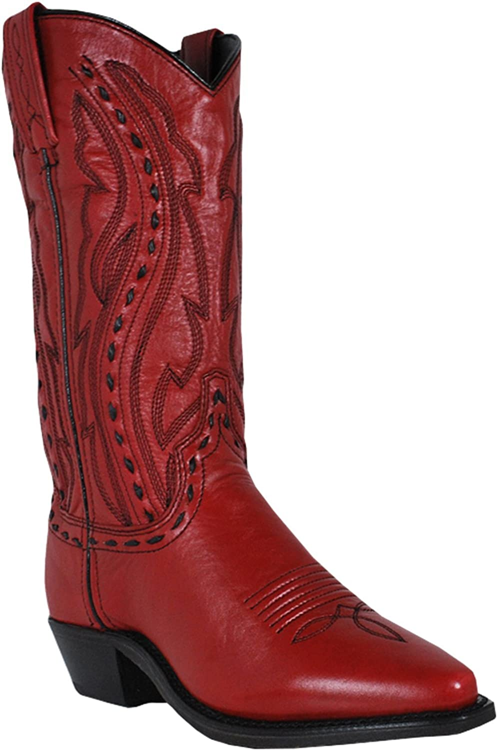Abilene Women's Whipstitched Cowgirl Boot - 9002 B00XC6C2M8 6 B(M) US|Red