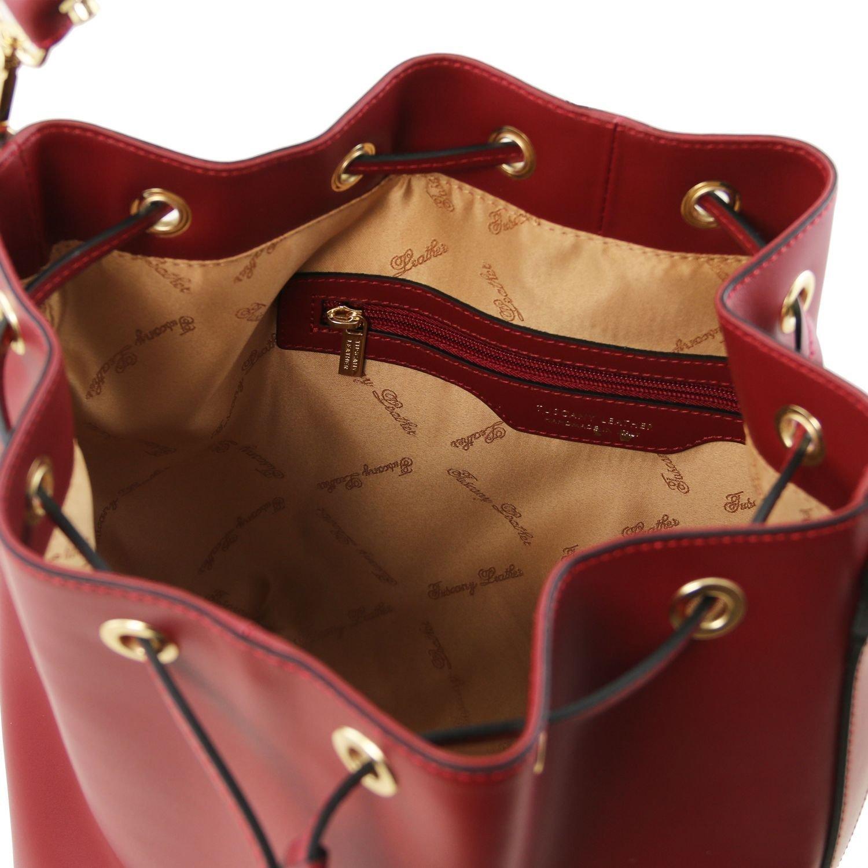 97f3b5ce74 Tuscany Leather Vittoria Borsa secchiello da donna in pelle Ruga - TL141531  (Blu scuro) ingrandisci