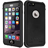 Waterproof Case IPhone 6Plus, Besinpo Underwater Full Body protection Cases Drop Proof Cover Fully Supports Finger Print Function For iPhone 6P 5.5 inch Only (Black)