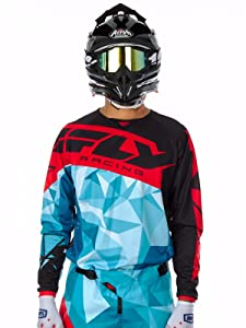 FLY Kinetic Crux Cheap motocross Jersey