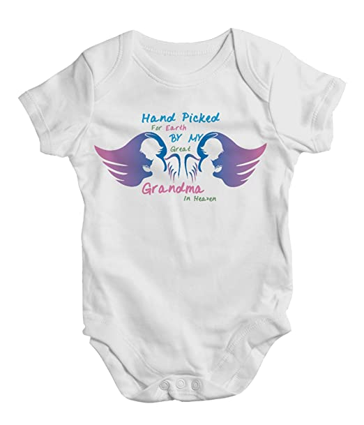 aeeb82b0d Hand Picked for Earth by My Great Grandma in Heaven,Funny Baby Bodysuit,One