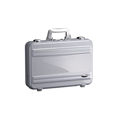 Zero Halliburton Classic Polycarbonate Large Framed Attached, Silver, One Size