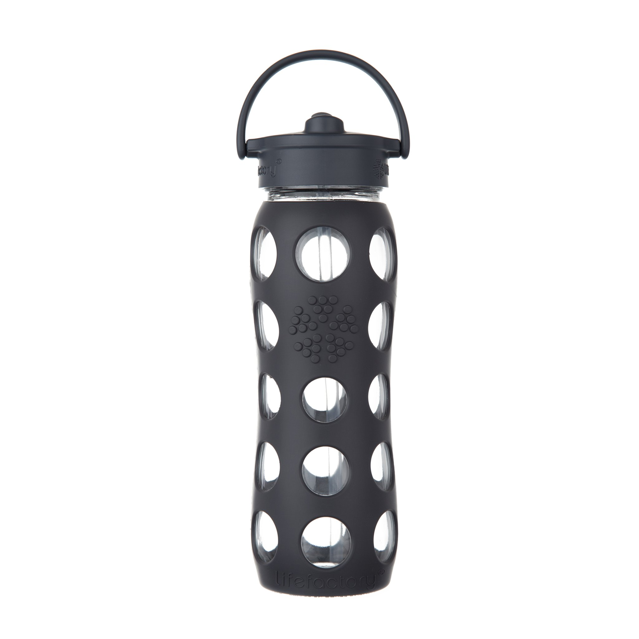 Lifefactory Unisex Glass Bottle with Straw Cap 12 oz.