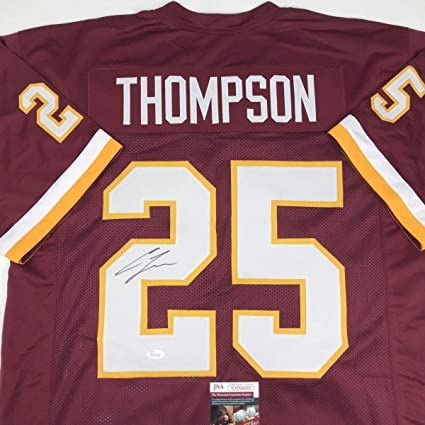 Chris Thompson Signed Jersey - Burgundy COA - JSA Certified - Autographed  NFL Jerseys bbc1086c7
