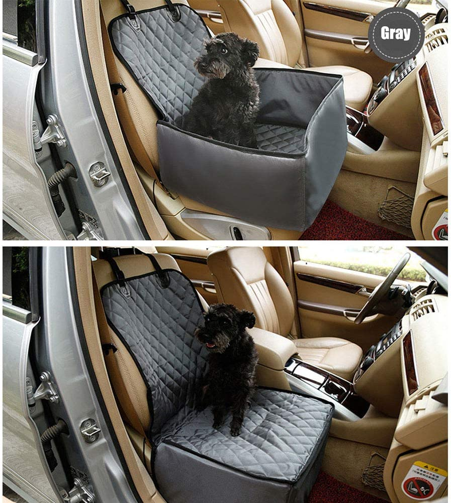 Pet Front Seat Cover for Cars 2in1 Pet Bucket Seat Cover,Pet Booster Seat Protector,Pet Cargo Liner,Cargo Cover for Dogs,Trunk Liner Beige