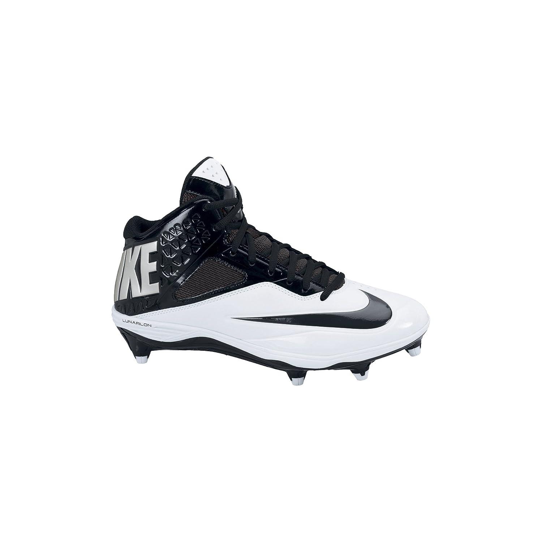 purchase cheap a119f 592a4 Amazon.com   Men s Nike Lunar Code Pro 3 4 Detachable Football Cleat  Black White   Football