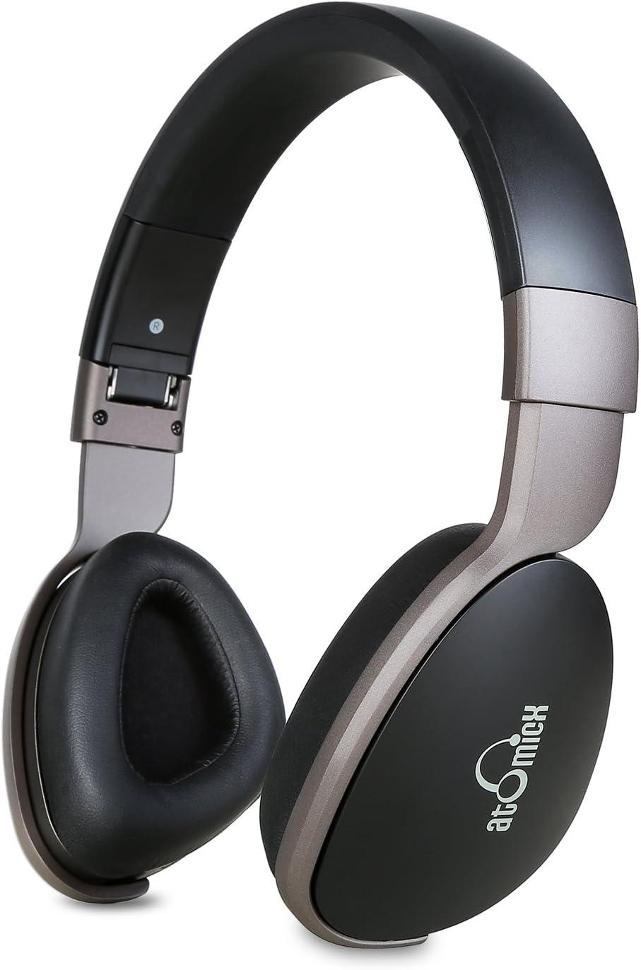 iDeaUSA Auriculares Bluetooth, TV Auriculares con Aislamiento de Ruido Auriculares inalámbricos con micrófono de Diadema 20 Horas de reproducción para Smartphones PC portátil – Negro/Gris: Amazon.es: Electrónica