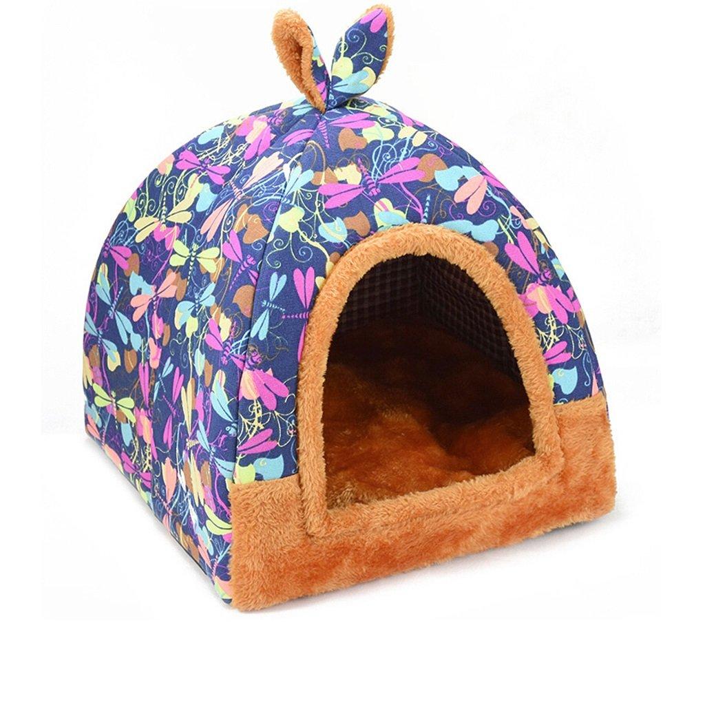 C 474752cm C 474752cm Dog Bed Cat House Portable dog tent Removable and washable pet pad Pet supplies (color   C, Size   474752cm)