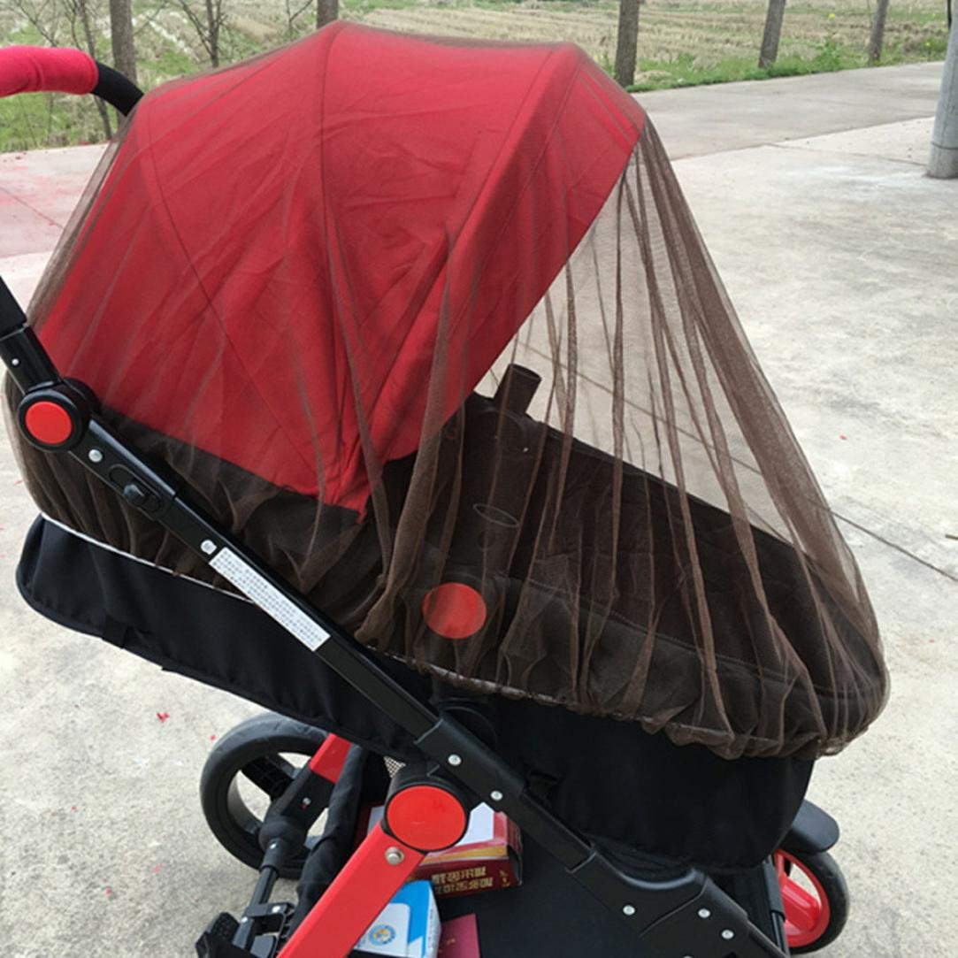 Inverlee Baby Stroller Mosquito Net Full Insect Cover Carriage Kid Foldable Kids Netting (Coffee)