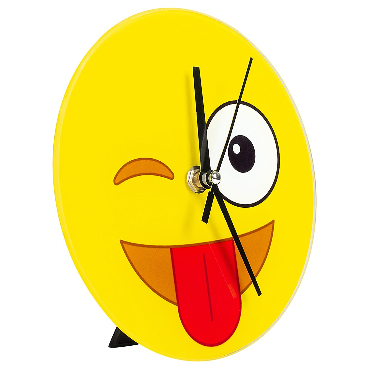 Amazon com crazy emoji wall desk clock home kitchen
