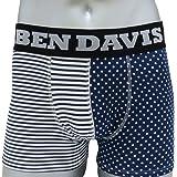 [ベン デイビス]BEN DAVIS ボクサーパンツ アンダーウエア 下着 ボーダー ドット BDU-0003H bendavis2-902 (L)
