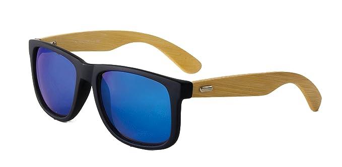 d15bb206992 Amazon.com  Optimum Optical Unisex Square Sunglasses with Bamboo ...