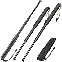 (3PC) Extendable Pole Bar with Travel Bag 21 Inch Black