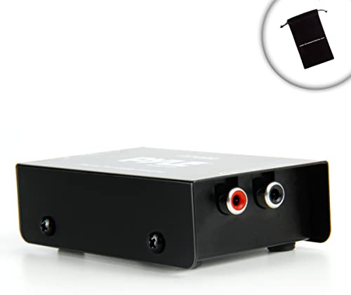 Mini Turntable Phono Preamp for Bookshelf Speakers Connect to Turntables, Microphones or Other Audio Devices – Works with Micca MB42, Pioneer SP-BS22-LR, Sony SS-B1000, Monoprice 108250 and More