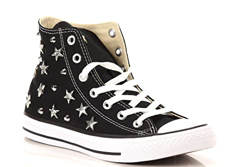 converse alte canvas nero