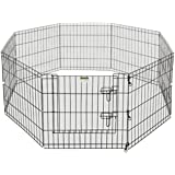 Pet Trex 8 Panel Pen Exercise Playpen for Dogs with High Panel and Gate