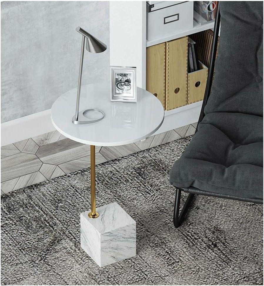 Voorafgaande Bestelling Kiki Nordic Fashion salontafel, eenvoudige marmer-sofa, moderne creatieve ijzer-kunst, moderne theetafel, couchtafel wit WRZaL08