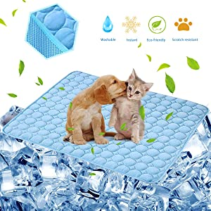 Dog Cooling Mat Pet Cooling Pads Dogs & Cats Pet Cooling Blanket for Outdoor Car Seats Beds (22IN28IN)