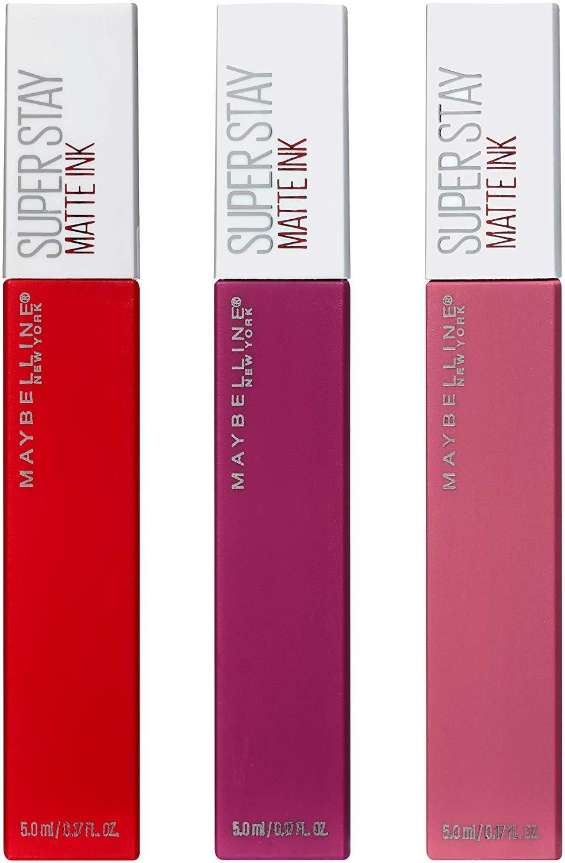 d2c4c4e59d5 Amazon.com : Maybelline Superstay Matte Ink Liquid Lipstick 3 Piece Gift  Set : Beauty