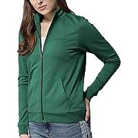 Fabricorn Plain Green Sweatshirt for Women (Green)