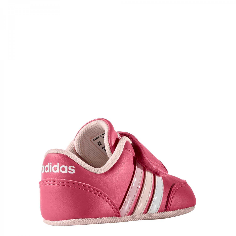 adidas Unisex Baby V Jog Crib Lauflernschuhe, Blau (Maruni/Ftwbla/Azuhie), 18 EU