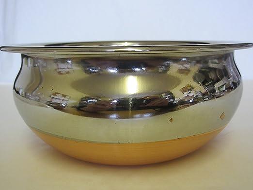 beghal Juego de 3 base de cobre interior cuencos de acero ...