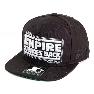 0c7ef7f8ee0 Starter Snapback Empire Strikes Back Baseball Cap - Black Black Adjustable   Amazon.co.uk  Clothing
