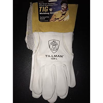 Tillman 1338 Top Grain Goatskin TIG Glove with Glide Patch Large - Welding Safety Gloves - .com