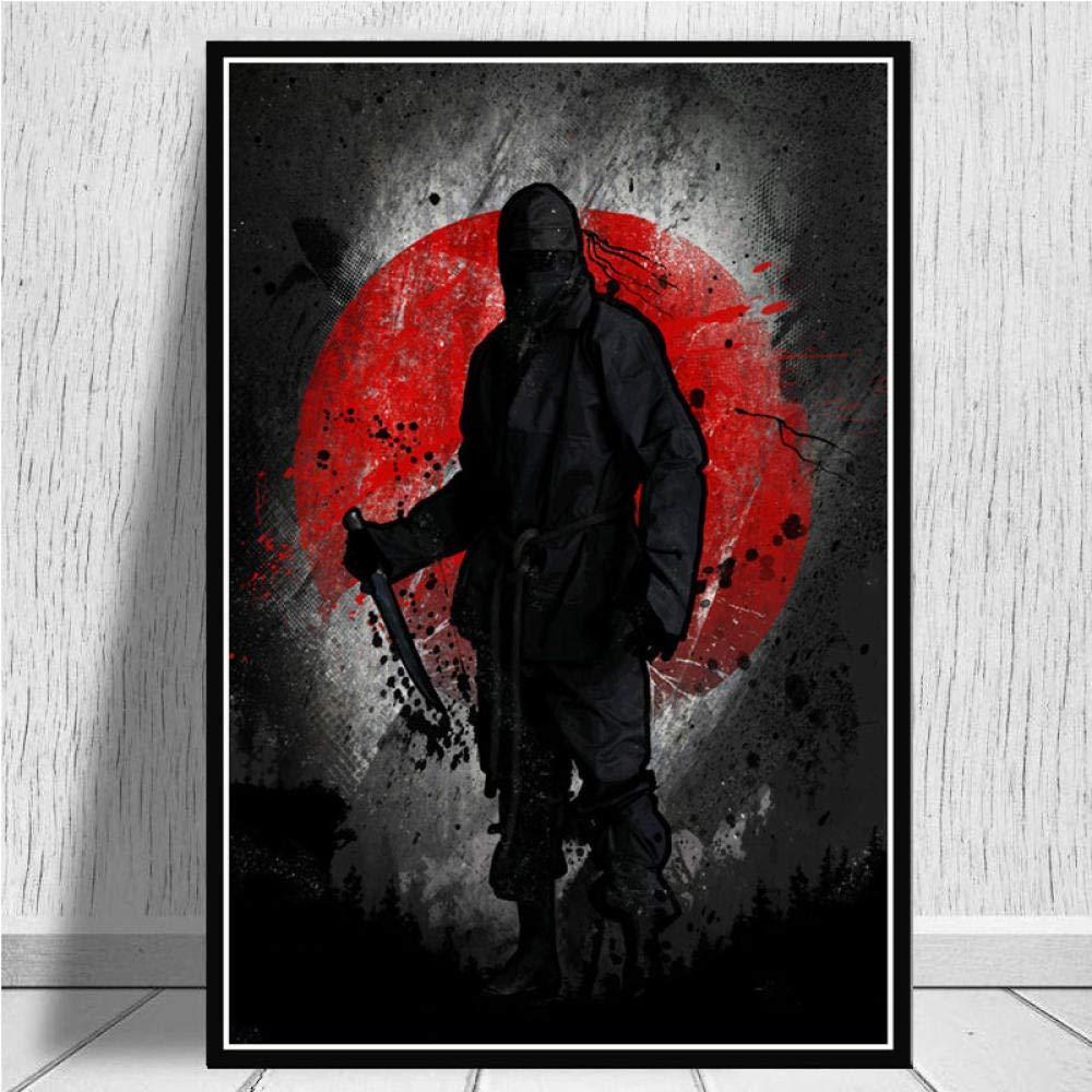 ZSHSCL Impresiones sobre Lienzo,Japonés Bushido Ninja ...