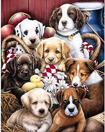 5D Diamond Painting Full Drill Embroidery Cross Stitch Kits Dog Home Decors
